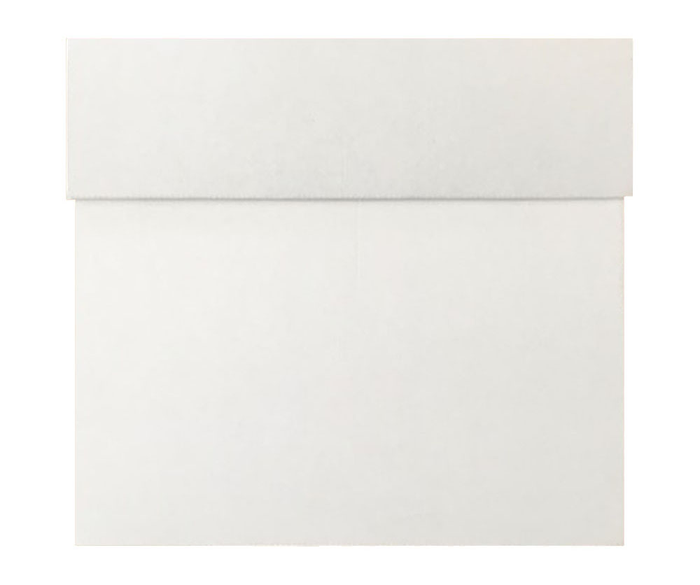 PLAIN WHITE MEMORABILIA STORAGE BOX
